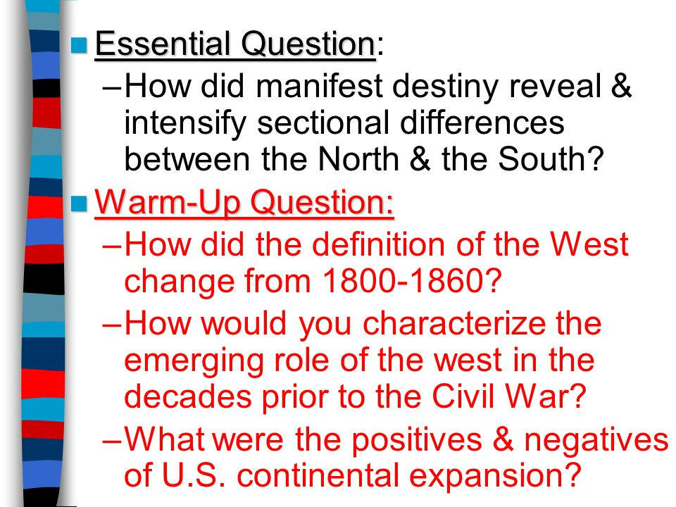 How did the definition of the West change from 1800-1860