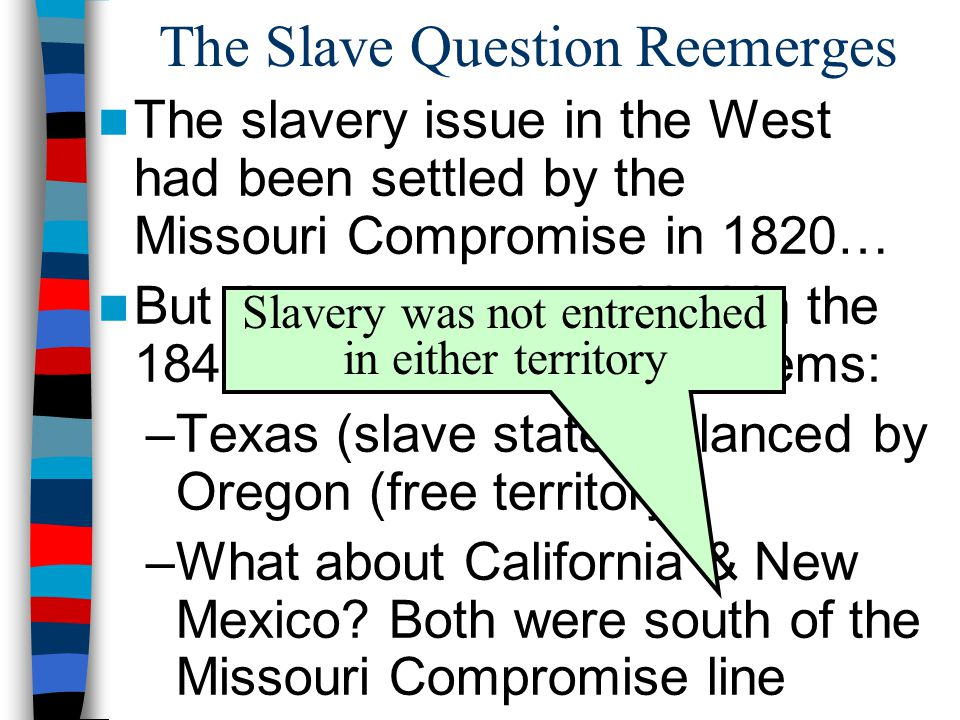 The Slave Question Reemerges