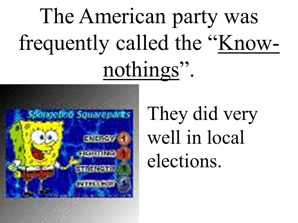 The American party was frequently called the Know-nothings .