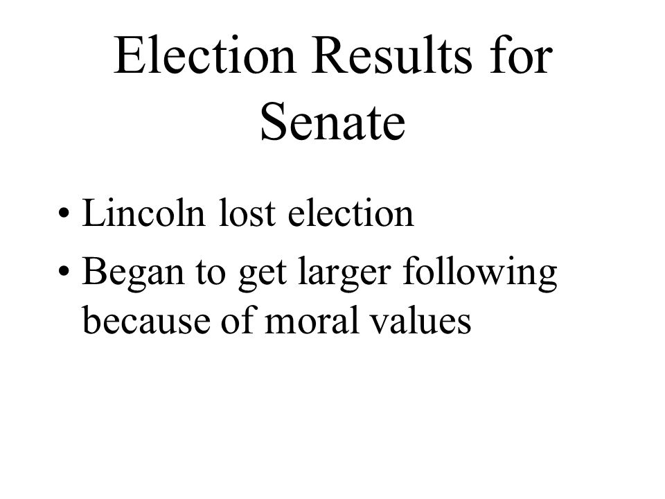 Election Results for Senate