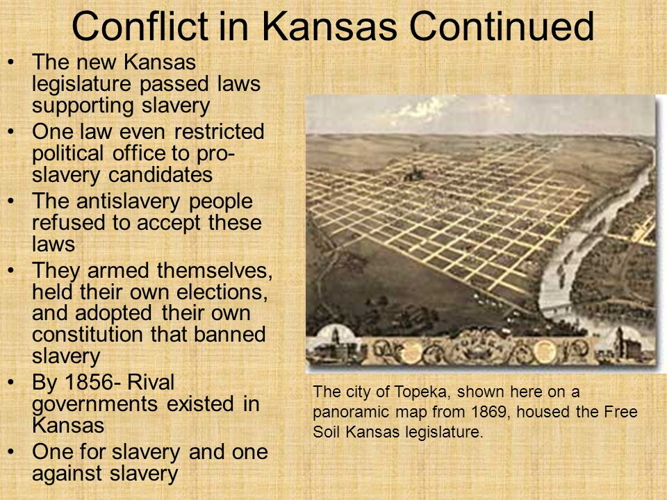 Conflict in Kansas Continued