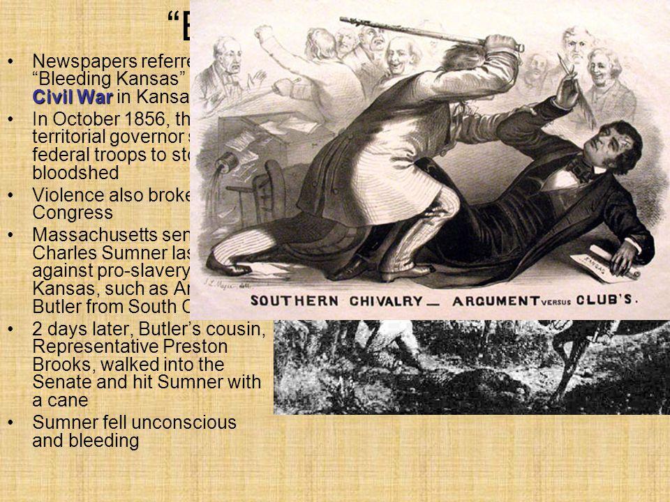 Bleeding Kansas Newspapers referred to Bleeding Kansas and the Civil War in Kansas