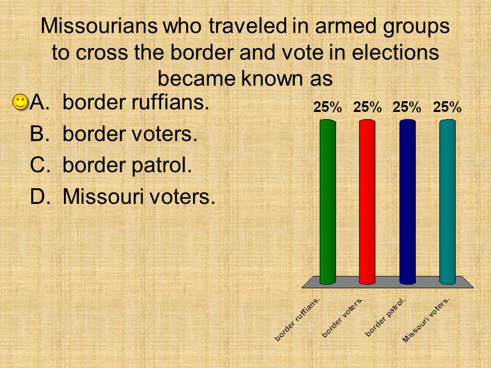 Missourians who traveled in armed groups to cross the border and vote in elections became known as