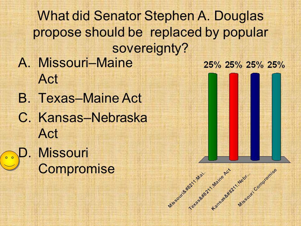 What did Senator Stephen A