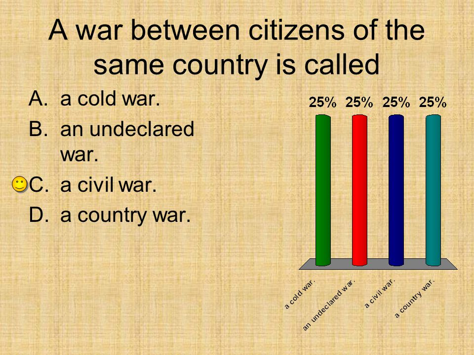 A war between citizens of the same country is called