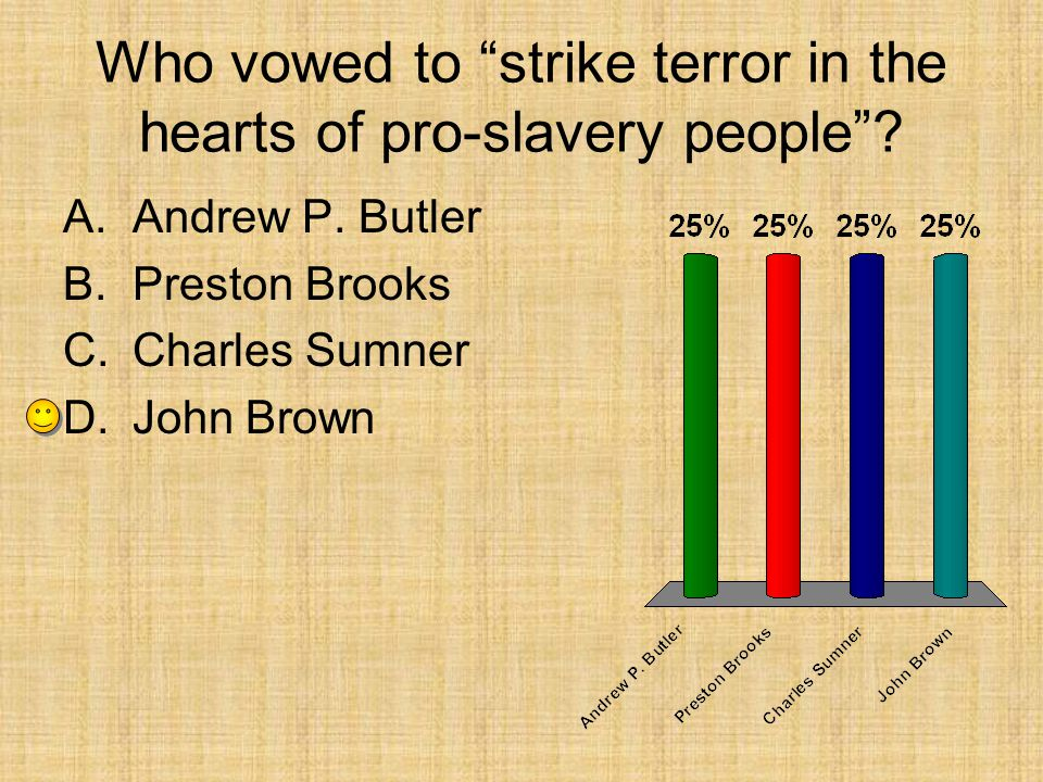 Who vowed to strike terror in the hearts of pro-slavery people