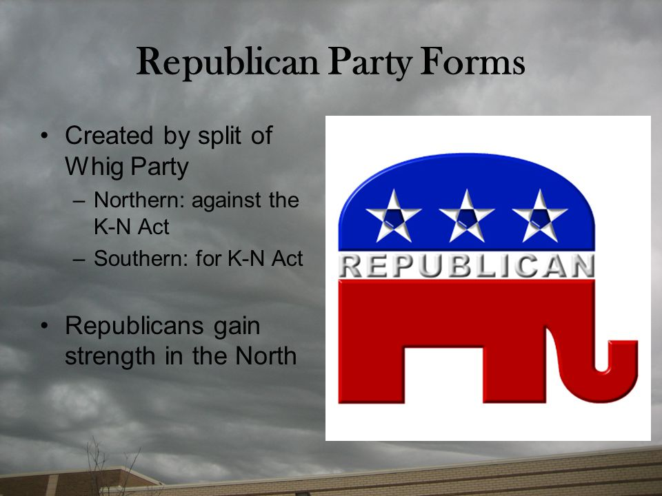 Republican Party Forms