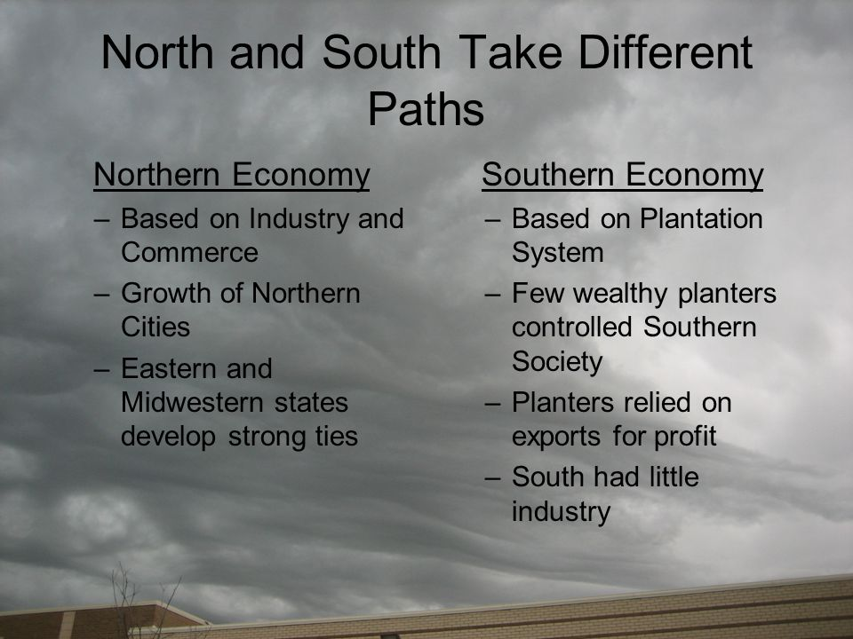 North and South Take Different Paths