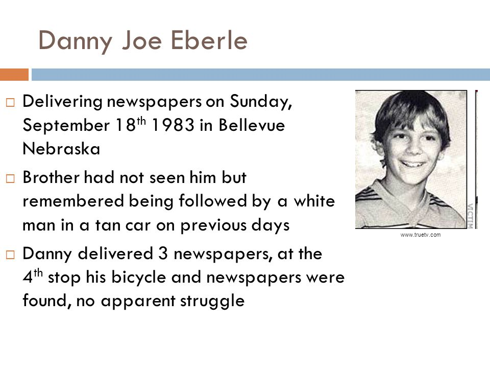 Danny Joe Eberle Delivering newspapers on Sunday, September 18th 1983 in Bellevue Nebraska.