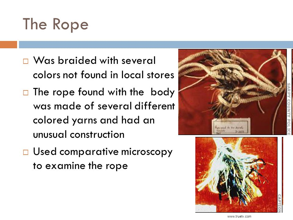 The Rope Was braided with several colors not found in local stores