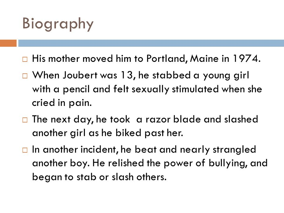 Biography His mother moved him to Portland, Maine in 1974.