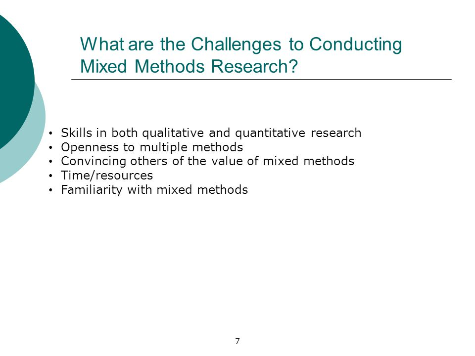 What are the Challenges to Conducting Mixed Methods Research