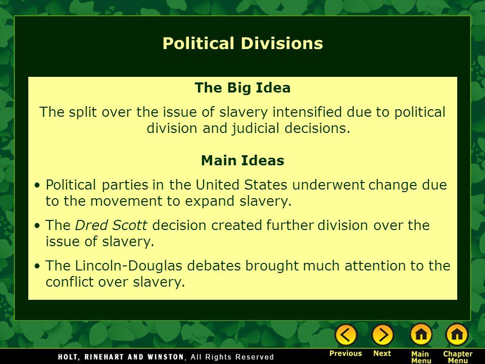 Political Divisions The Big Idea