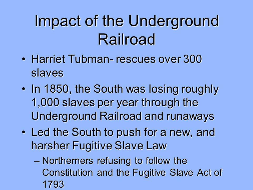 Impact of the Underground Railroad
