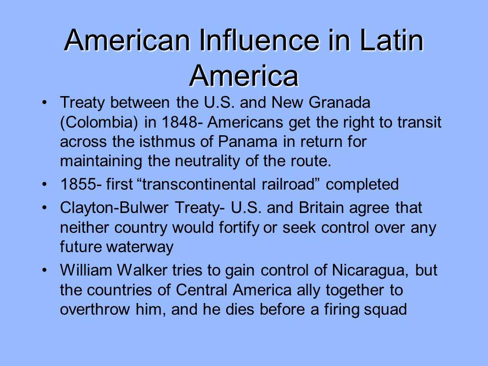 American Influence in Latin America