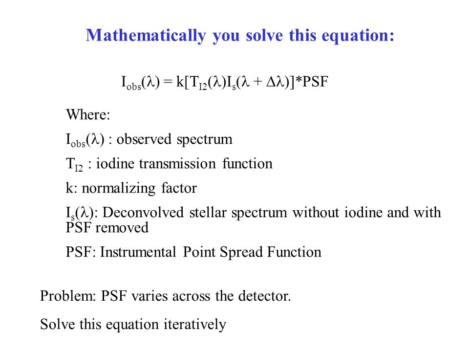 Mathematically you solve this equation: