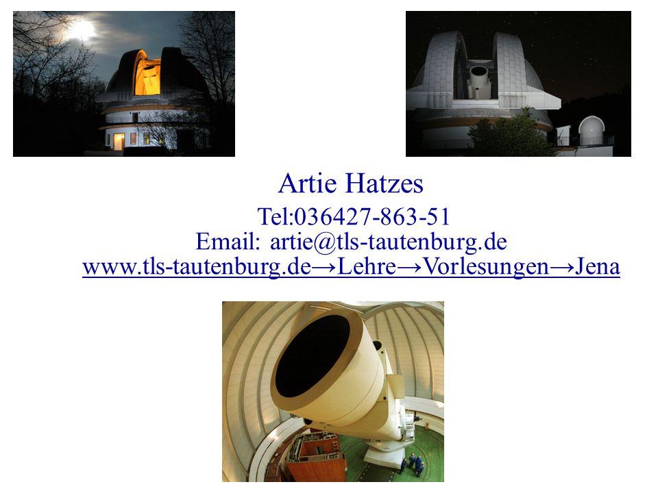 Artie Hatzes Tel:036427-863-51. Email: artie@tls-tautenburg.de.