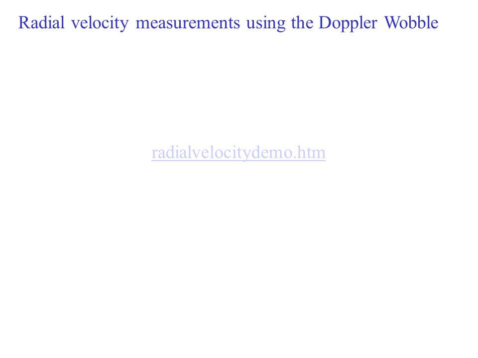 Radial velocity measurements using the Doppler Wobble
