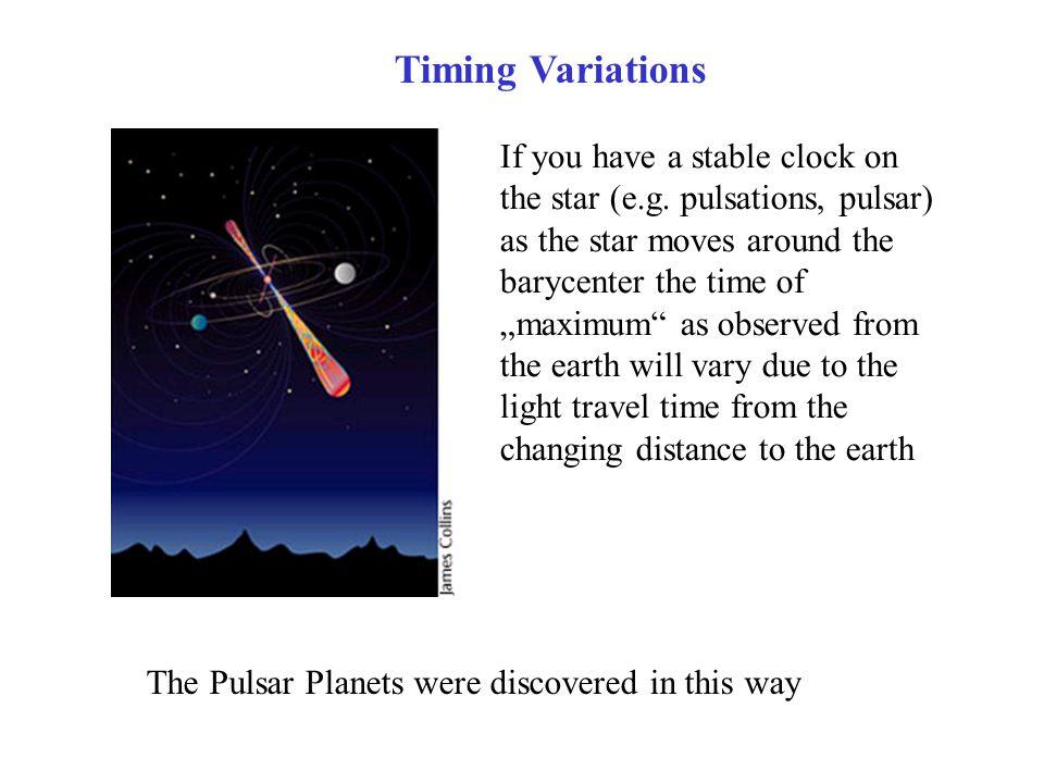 Timing Variations