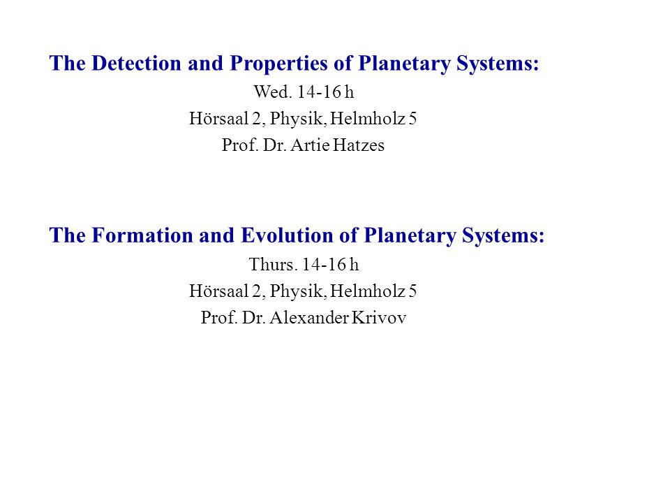 The Detection and Properties of Planetary Systems: