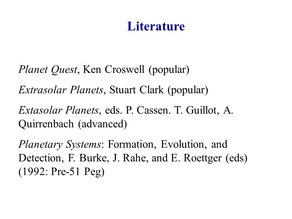 Literature Planet Quest, Ken Croswell (popular)