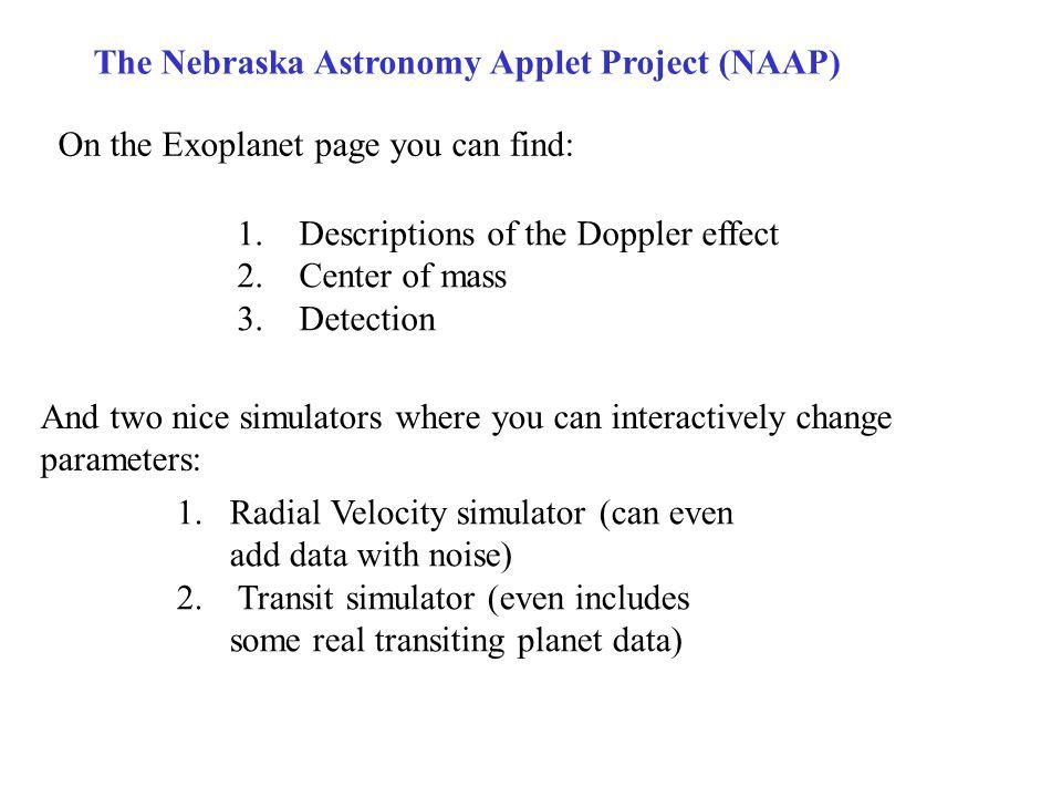The Nebraska Astronomy Applet Project (NAAP)
