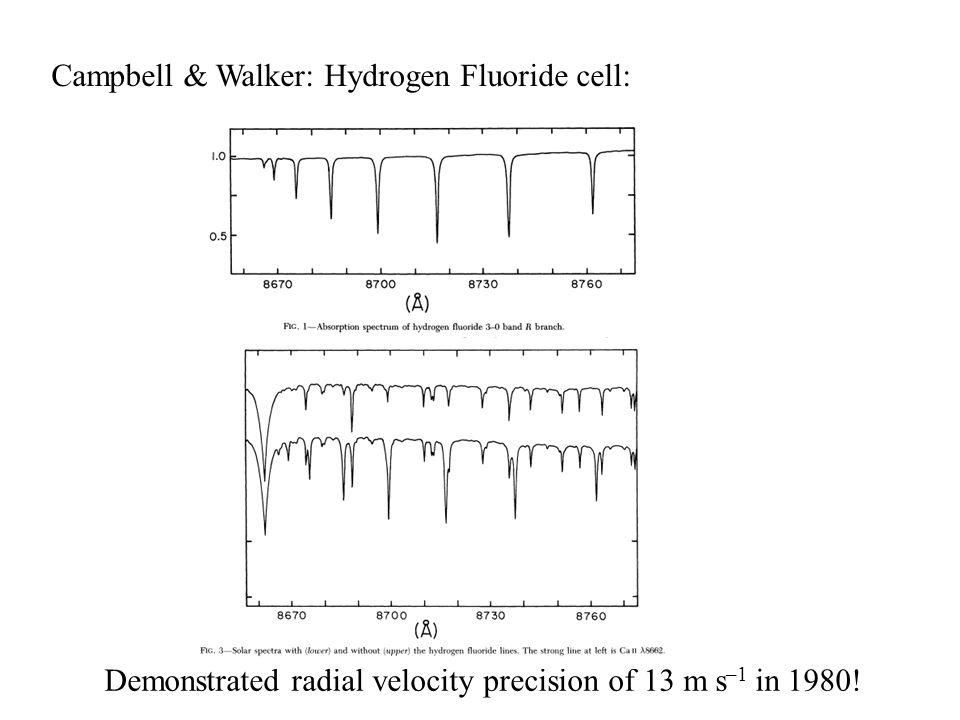 Campbell & Walker: Hydrogen Fluoride cell: