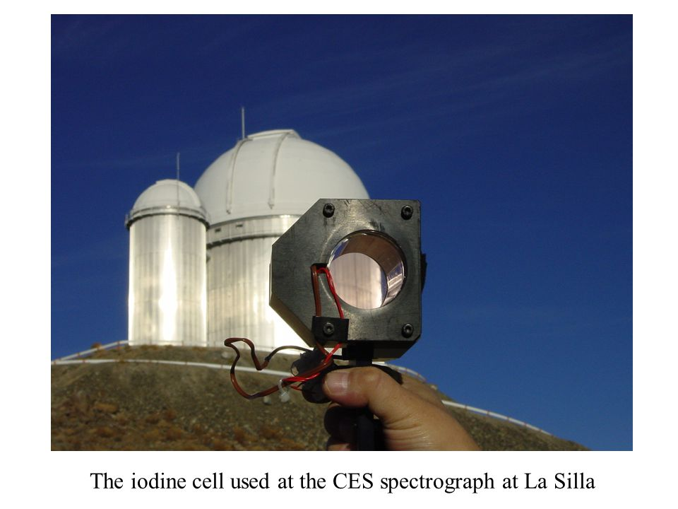 The iodine cell used at the CES spectrograph at La Silla