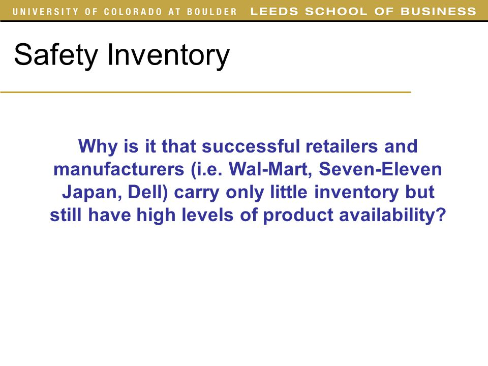 SYST 4050 Slides Safety Inventory.