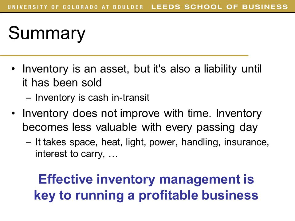 Effective inventory management is key to running a profitable business