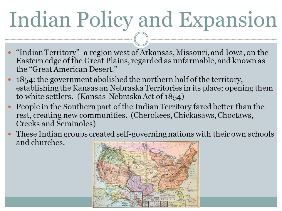 Indian Policy and Expansion