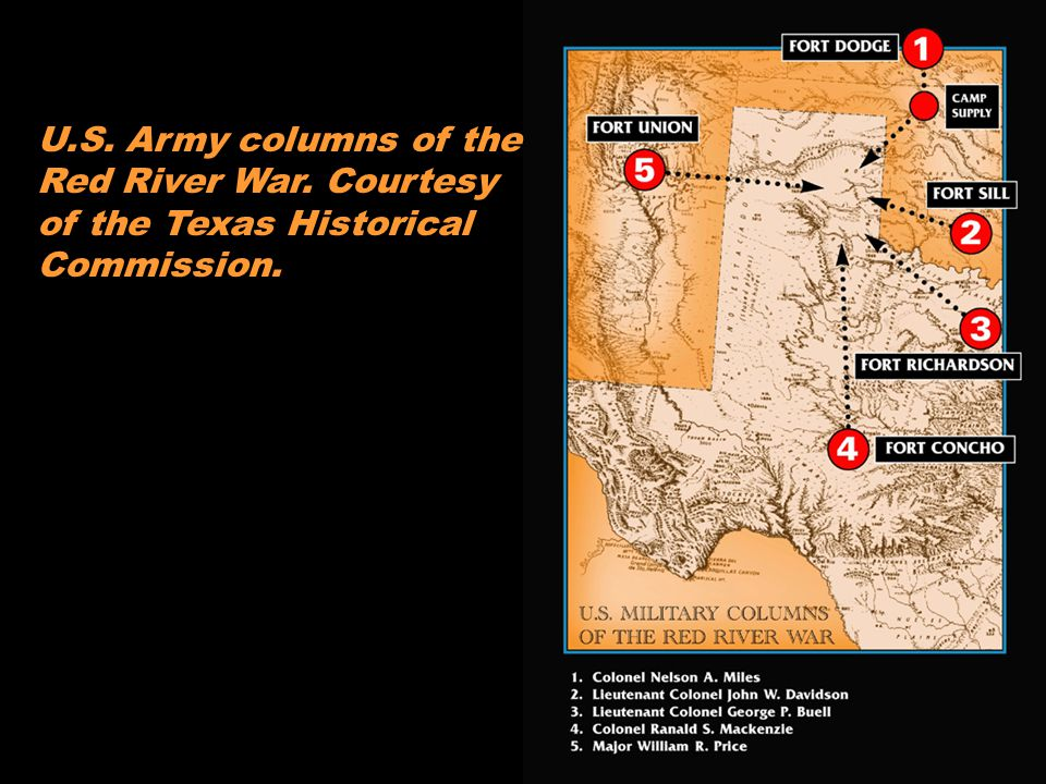 U. S. Army columns of the Red River War