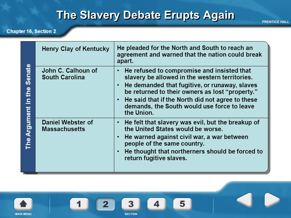 The Slavery Debate Erupts Again