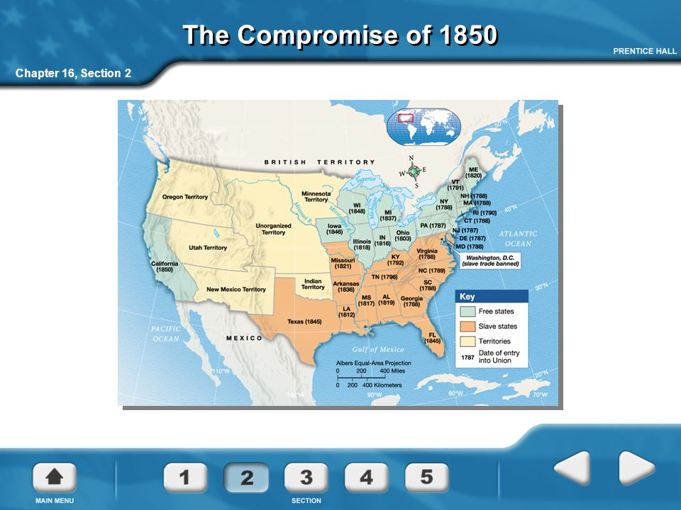 The Compromise of 1850 Chapter 16, Section 2