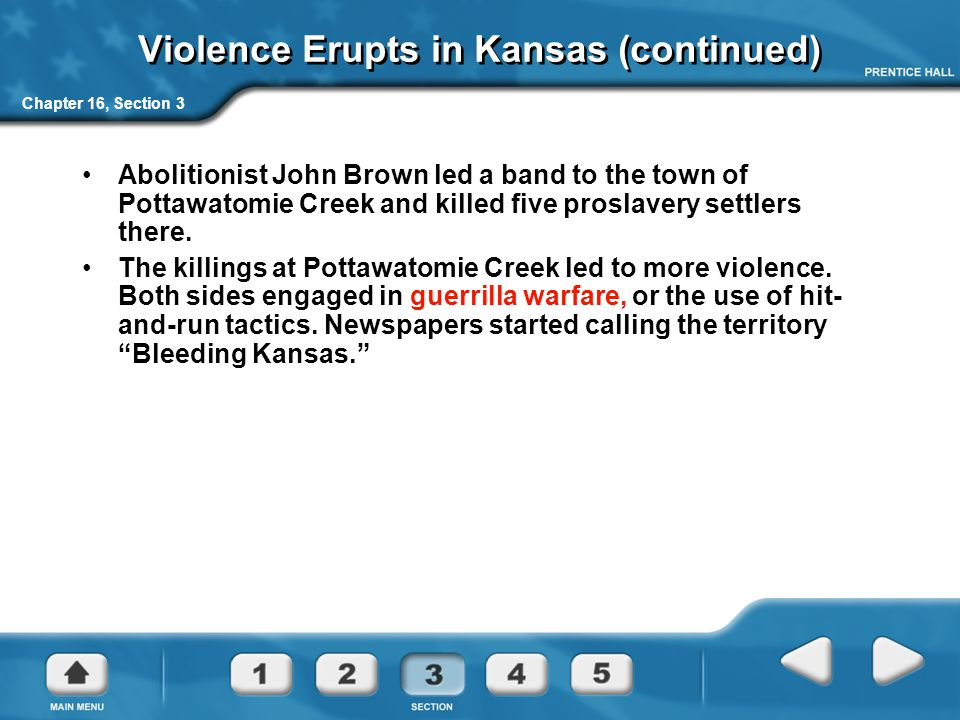Violence Erupts in Kansas (continued)