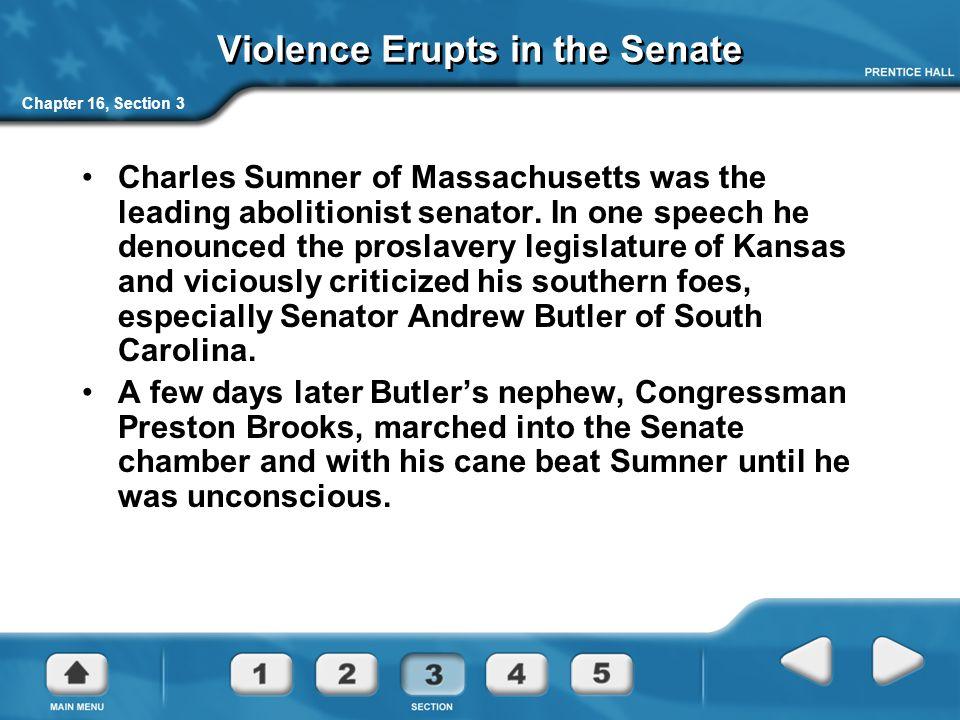 Violence Erupts in the Senate
