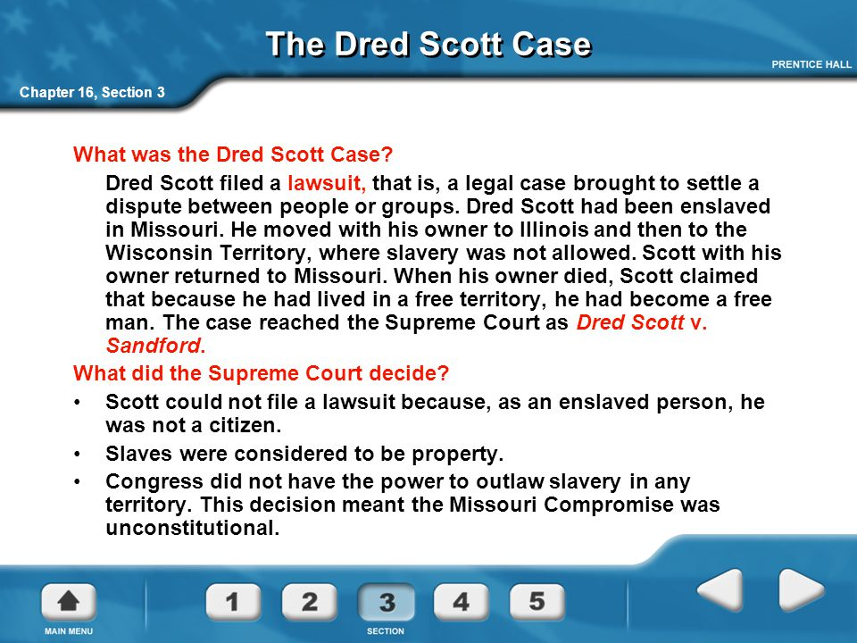 The Dred Scott Case What was the Dred Scott Case
