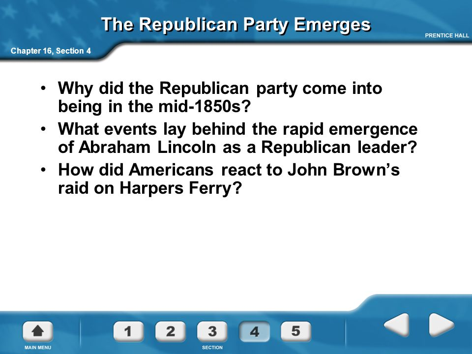 The Republican Party Emerges