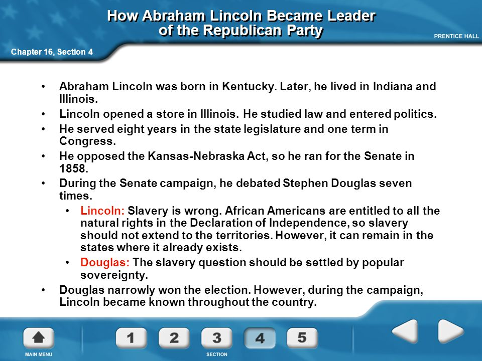 How Abraham Lincoln Became Leader of the Republican Party