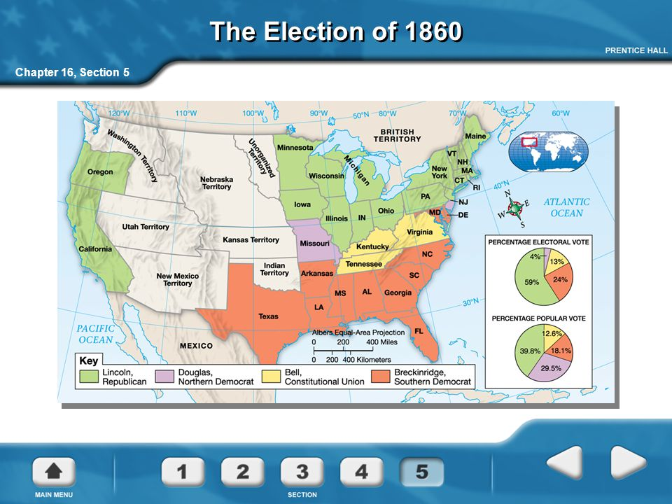 The Election of 1860 Chapter 16, Section 5