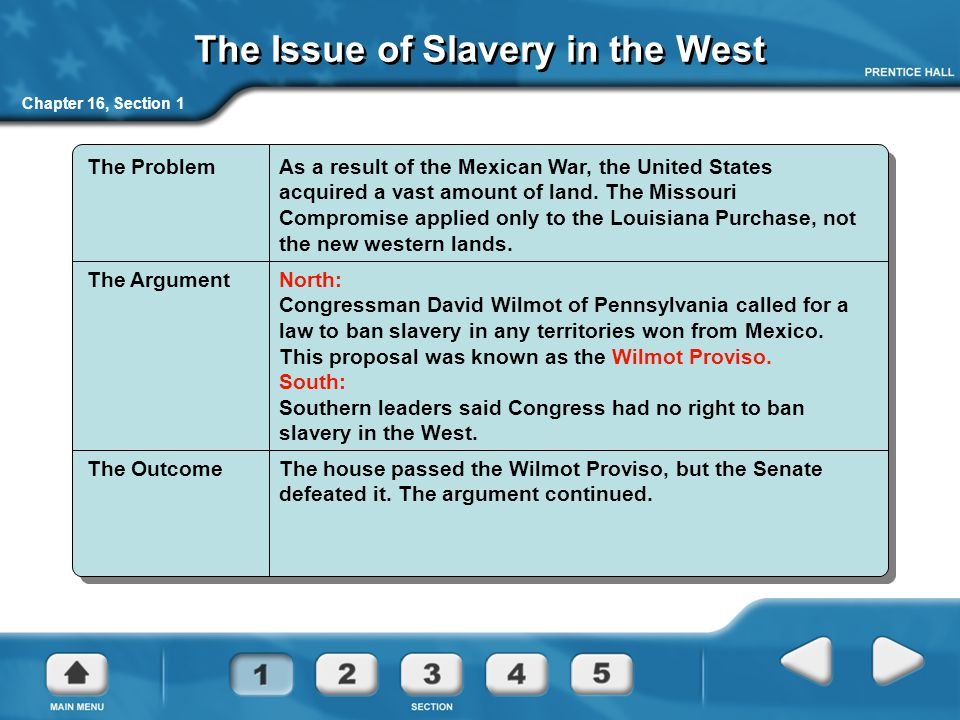 The Issue of Slavery in the West