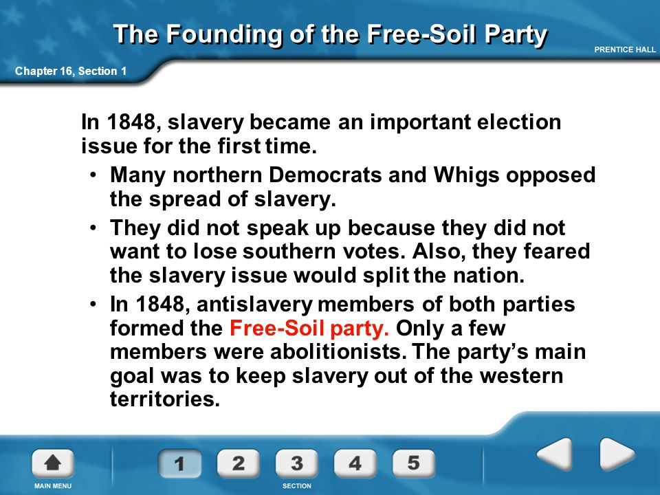 The Founding of the Free-Soil Party