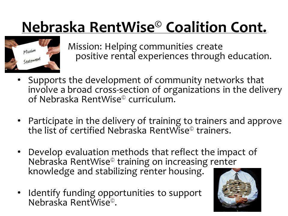 Nebraska RentWise© Coalition Cont.