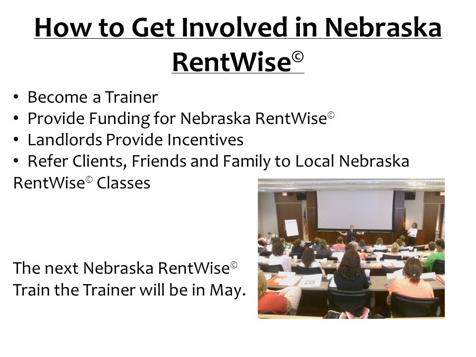 How to Get Involved in Nebraska RentWise©