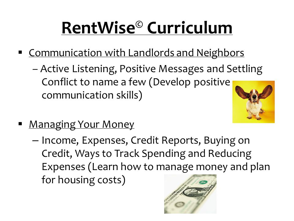 RentWise© Curriculum Communication with Landlords and Neighbors