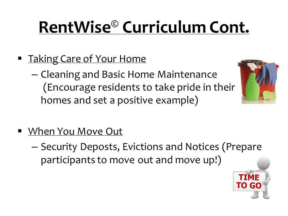 RentWise© Curriculum Cont.