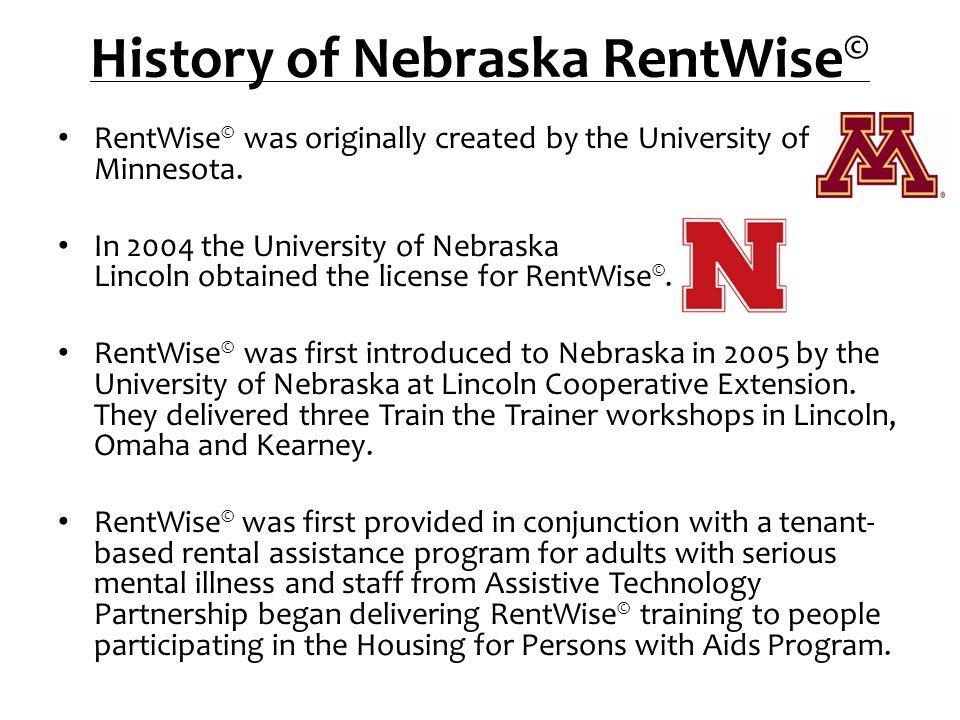 History of Nebraska RentWise©