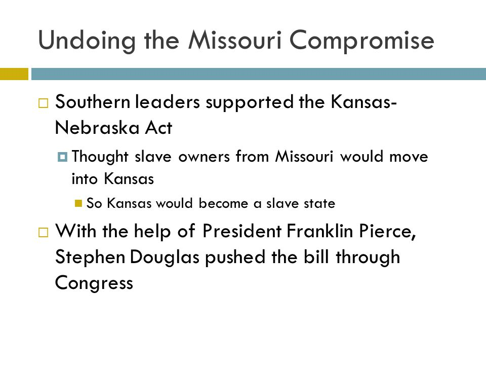 Undoing the Missouri Compromise