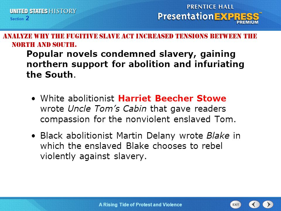 Analyze why the Fugitive Slave Act increased tensions between the North and South.