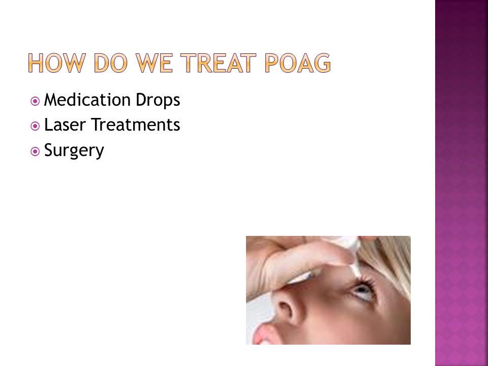 How do we treat POAG Medication Drops Laser Treatments Surgery